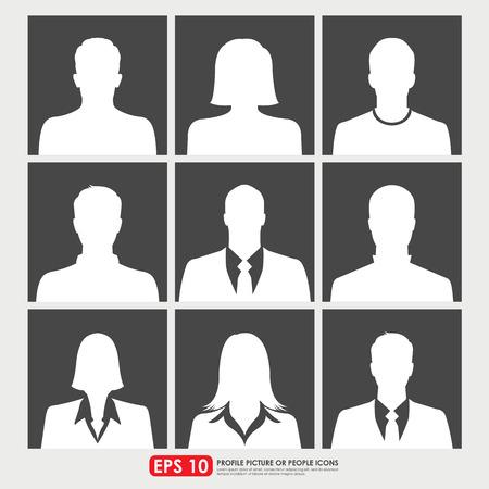 Avatar profile picture set di icone tra cui uomini, donne e uomini d'affari Archivio Fotografico - 31219798