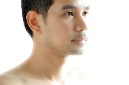 Asian man face (Thai man)