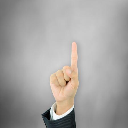 dedo indice: Mano que señala con el dedo índice Foto de archivo