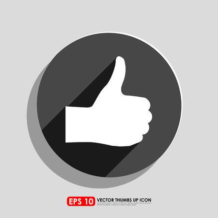 thumbs up icon: Pulgar hacia arriba icono en c�rculo
