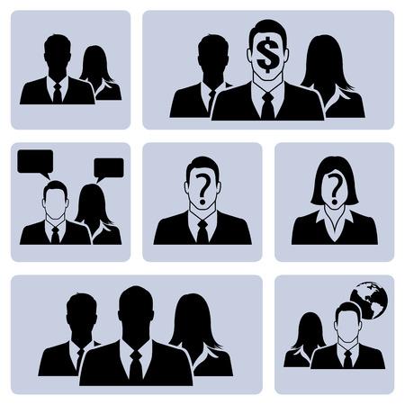 Businesspeople icon set