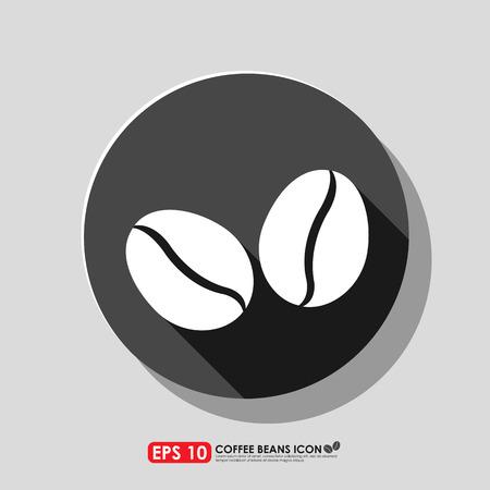 coffee grains: Coffee bean icon Illustration