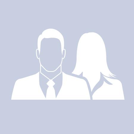 Mannelijke en vrouwelijke ondernemers als icoon - paar, partner en teamwork concept