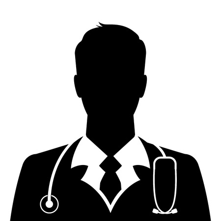 Doctor icon on white background Stock Illustratie
