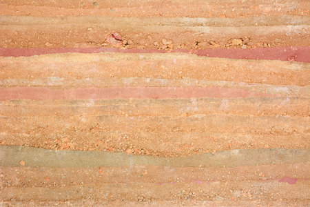 Texture of soil & stone layers photo