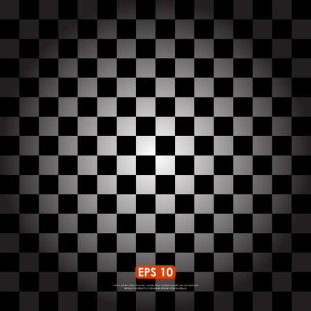 lomo: Checkered background in black & white with lomo or radial gradient effect Illustration