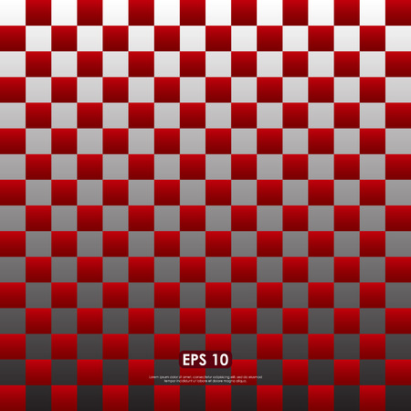 checkerboard backdrop: Modern red checkered pattern - seamless abstract background Illustration