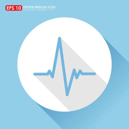 ekg: Electrocardiogram, ecg or ekg - medical  vector icon