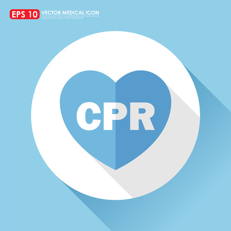 cpr: Heart icon with CPR text