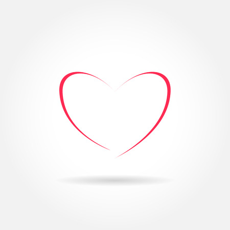 heart outline: Heart shape icon - modern style outline