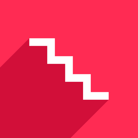 up stair: Stair icon on pink background