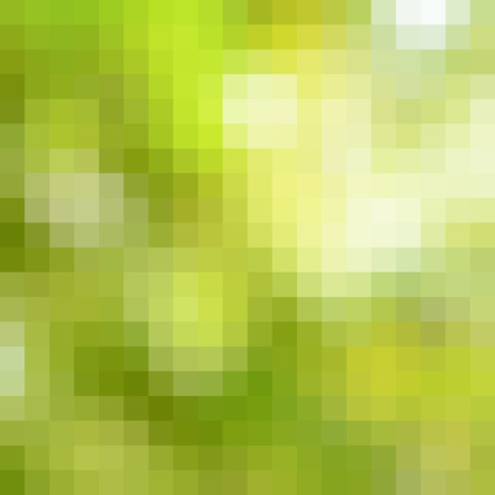 pixelation: Abstract yellow & green pixel pattern as background Stock Photo