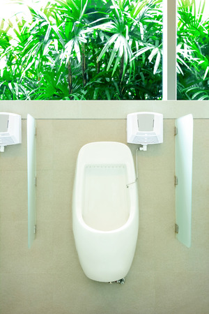 chamber pot: Men chamber pot or urinal in men toilet Stock Photo