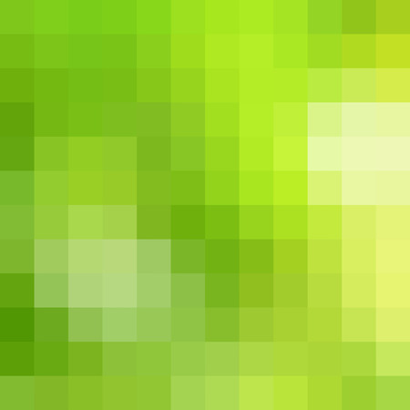 pixelate: Abstract yellow & green pixel pattern as background Stock Photo