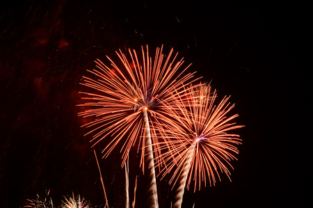and the magnificent: Magnificent fireworks Stock Photo