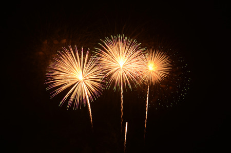 magnificent: Magnificent fireworks Stock Photo
