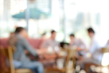 restaurant background: Blur background - people sitting in coffee shop