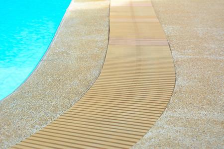 edge: Swimming pool edge with drain Stock Photo