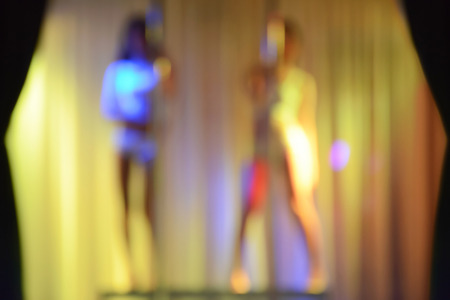 sexy naked girl: Two sexy strippers -  blur effect without focus
