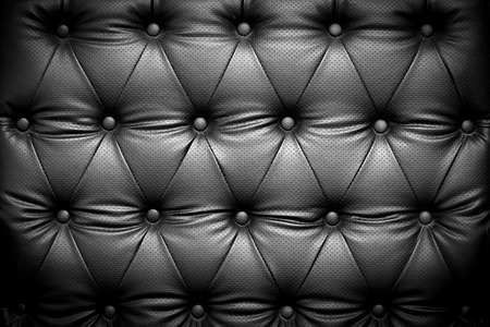 leather texture: Black leather texture background with buttoned pattern