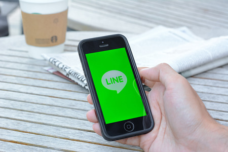 Line application on iphone , Line is one of famous social network application from Japan. Editorial