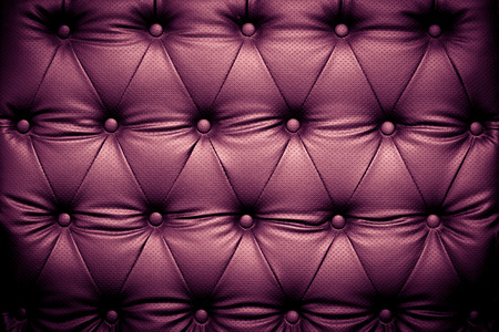 leather background: Dark purple leather texture background with buttoned pattern Stock Photo