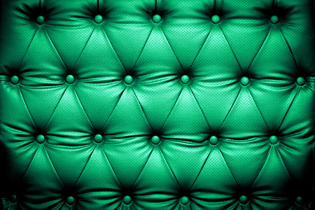 buttoned: Green leather texture background with buttoned pattern