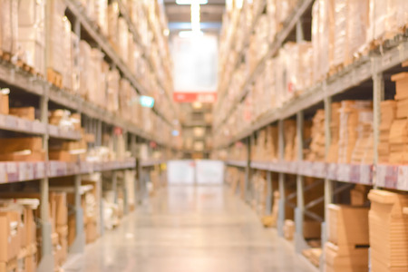 commerce and industry: Blurred warehouse or storehouse as background