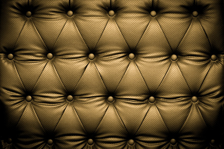 buttoned: Luxury brown leather texture with buttoned pattern Stock Photo