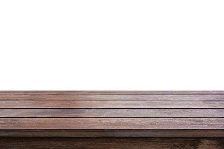 Vecchio tavolo di legno marrone scuro - può essere utilizzato per la visualizzazione o montaggio vostri prodotti Archivio Fotografico - 40830281