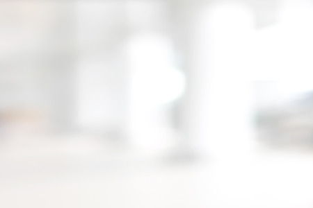 abstrato: Borrão branco fundo abstrato de construção de corredor (corredor)