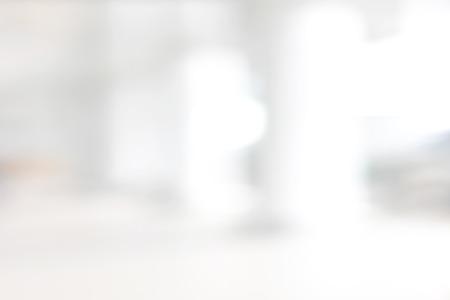 abstract: Witte blur abstract achtergrond van gebouw hal (gang)