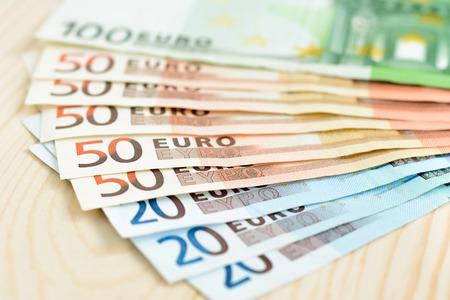 Money, Euro currency (EUR) bills