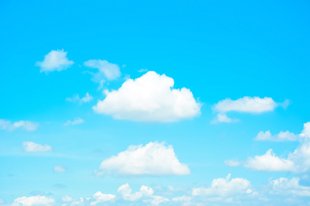 blue clouds: Bright summer blue sky as background Stock Photo