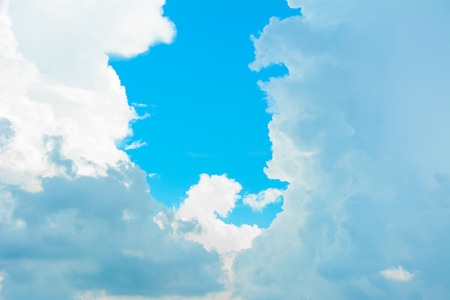 clouds and sky: Beautiful clouds on bright summer blue sky - can be used as natural background