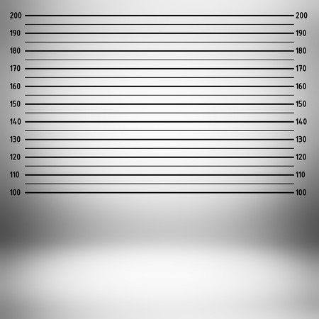 centimeter: Police lineup or mugshot background (centimeter unit) Stock Photo