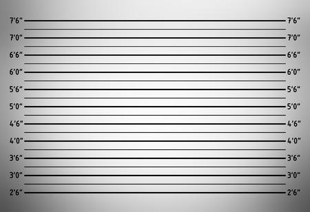 警察ラインアップ mugshot 背景 (インチ単位)