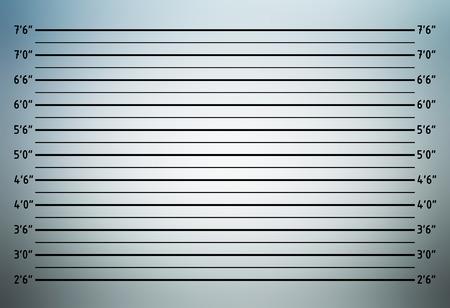 Gegenüberstellung oder mugshot Hintergrund (inch Einheit)