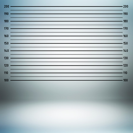 criminal law: Police lineup or mugshot background in centimeter unit Stock Photo