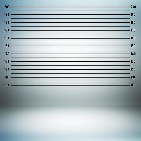 criminal: Police lineup or mugshot background in centimeter unit Stock Photo