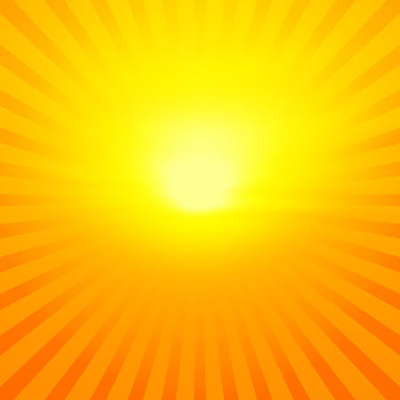 radiate: Bright orange sunburst (or radiate) abstract background