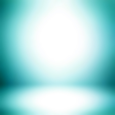 Turquoise gradient abstract room background - can be used for display or montage your products
