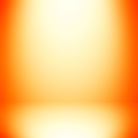 orange abstract: Abstract gradient orange room background - can be used for display or montage your products
