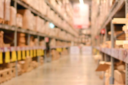 gaussian distribution: Blurred warehouse or storehouse for background Stock Photo
