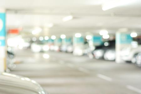 parking lot interior: Indoor car park - blurred image for background