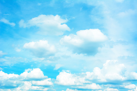 white clouds: Bright summer sky - background