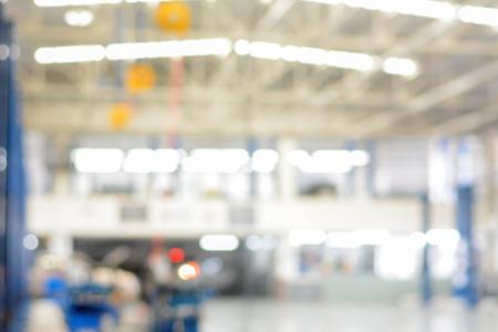 auto repair: Blurred auto repair shop (or garage) for background