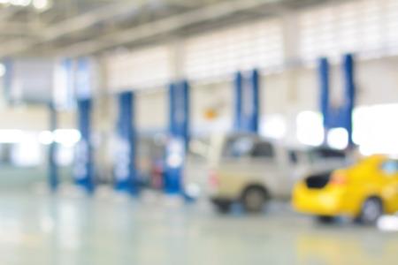 car repair shop: Blur image of car repair shop