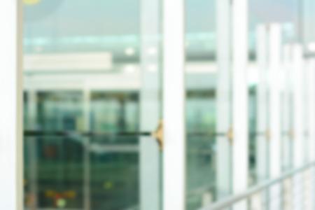 Blurred corridor glass wall for background Standard-Bild