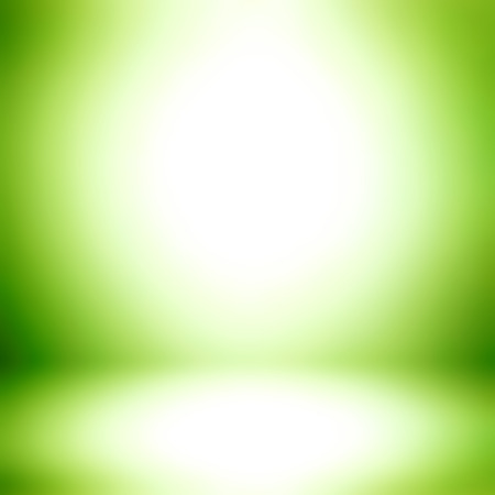 display: White and green gradient abstract room background - can be used for montage or display your products